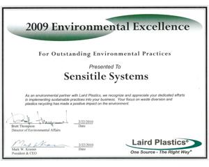 2009 Environmental Excellence Award