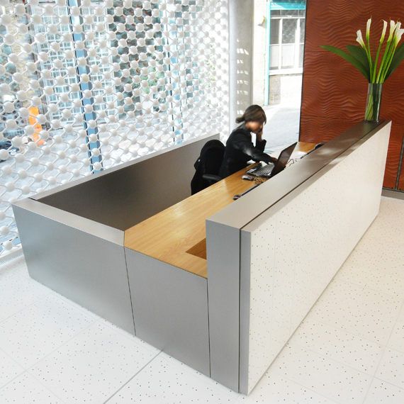 Office Building Reception Desk, London