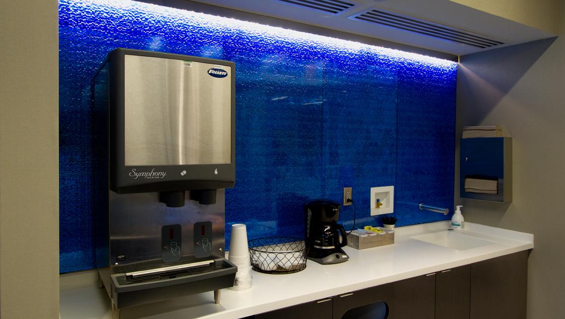 Eskenazi Hospital – Blue Mille Backsplash 0