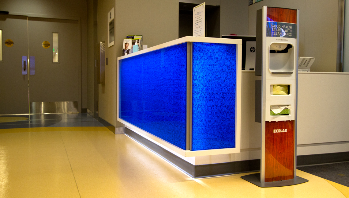 Eskenazi Hospital – Blue Mille Counter Face 2