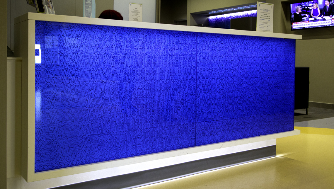 Eskenazi Hospital – Blue Mille Counter Face 0