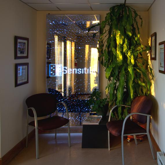 Office Vestibule Celeste Wall