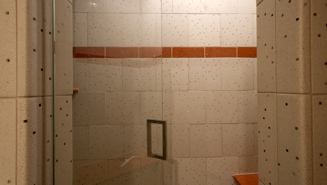 Private Residence: Sensitile Terrazzo Shower 1