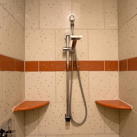 Private Residence: Sensitile Terrazzo Shower
