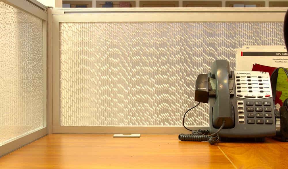 Jali Pearl Office Desk Modesty Panels