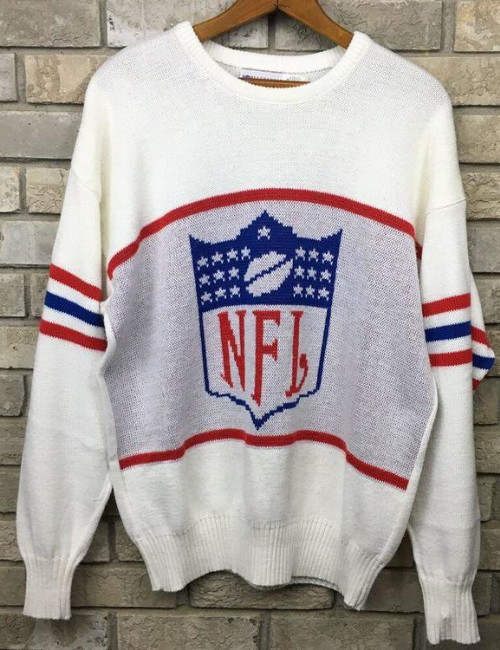Vintage-NFL-White-Sweater