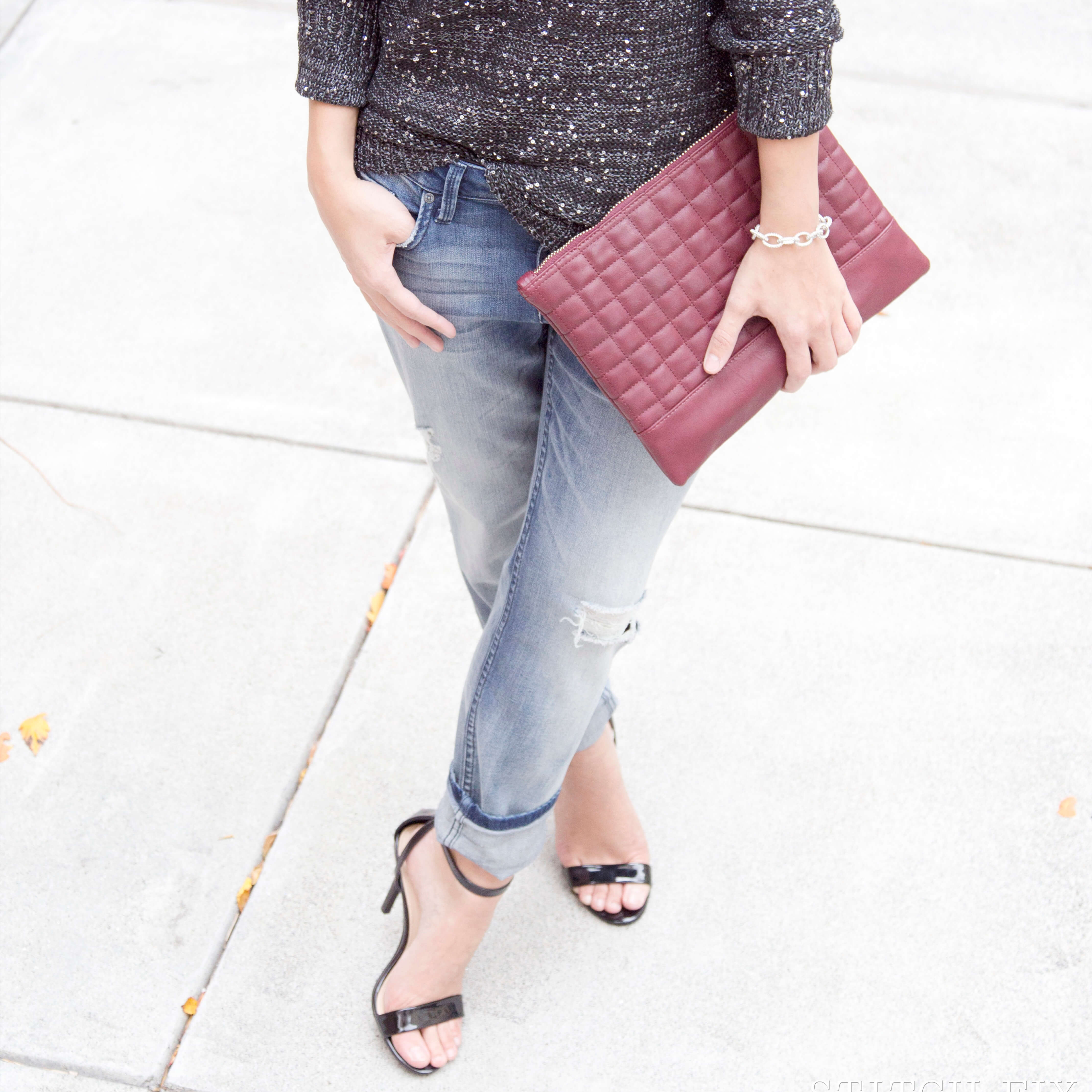 What heels to wear with boyfriend jeans