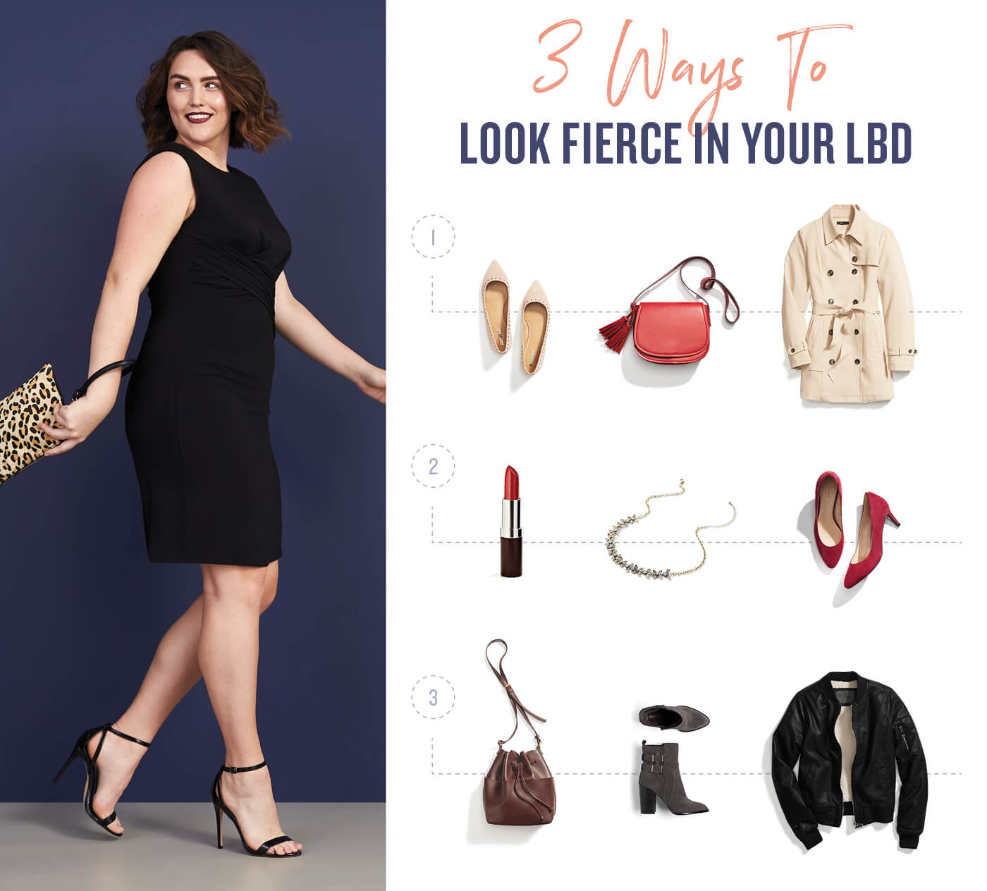1 Little Black Dress, 3 Ways To Wear It