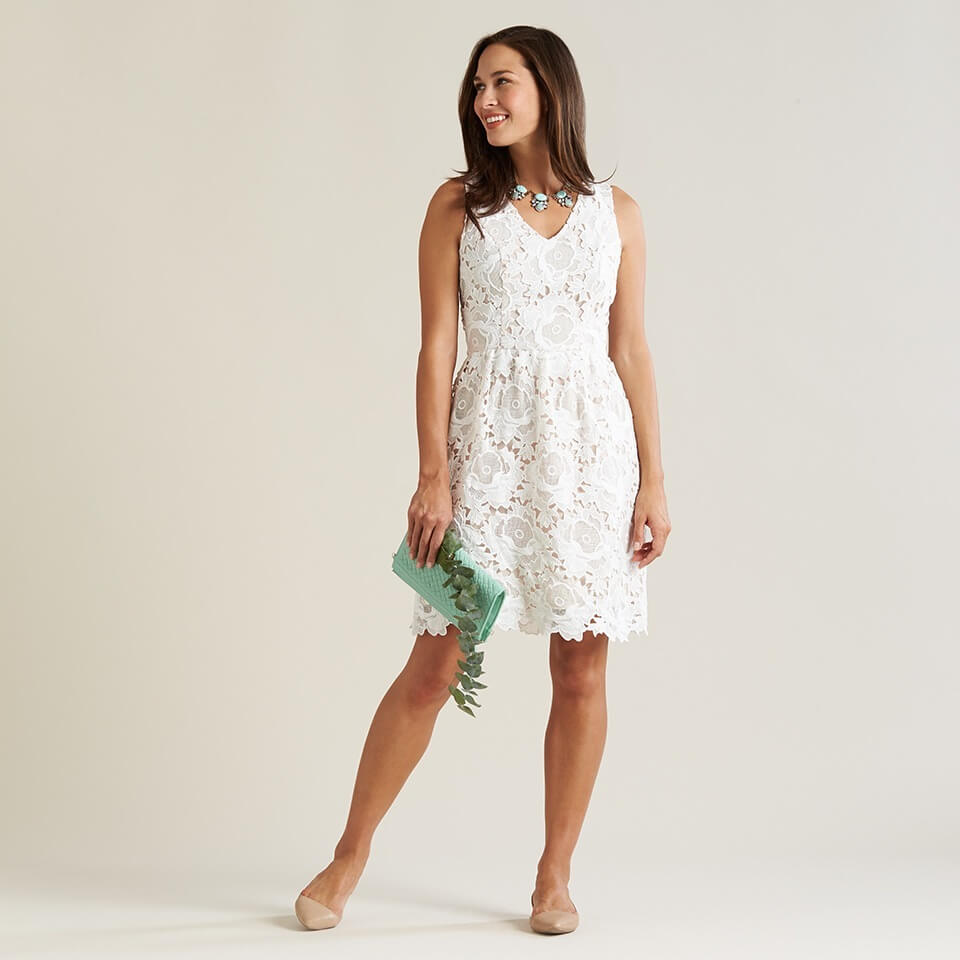 Stitches lace dress