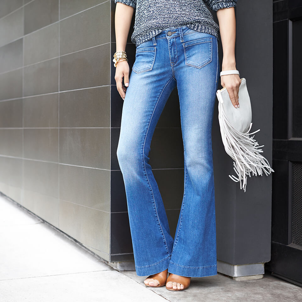What heels to wear with wide leg jeans