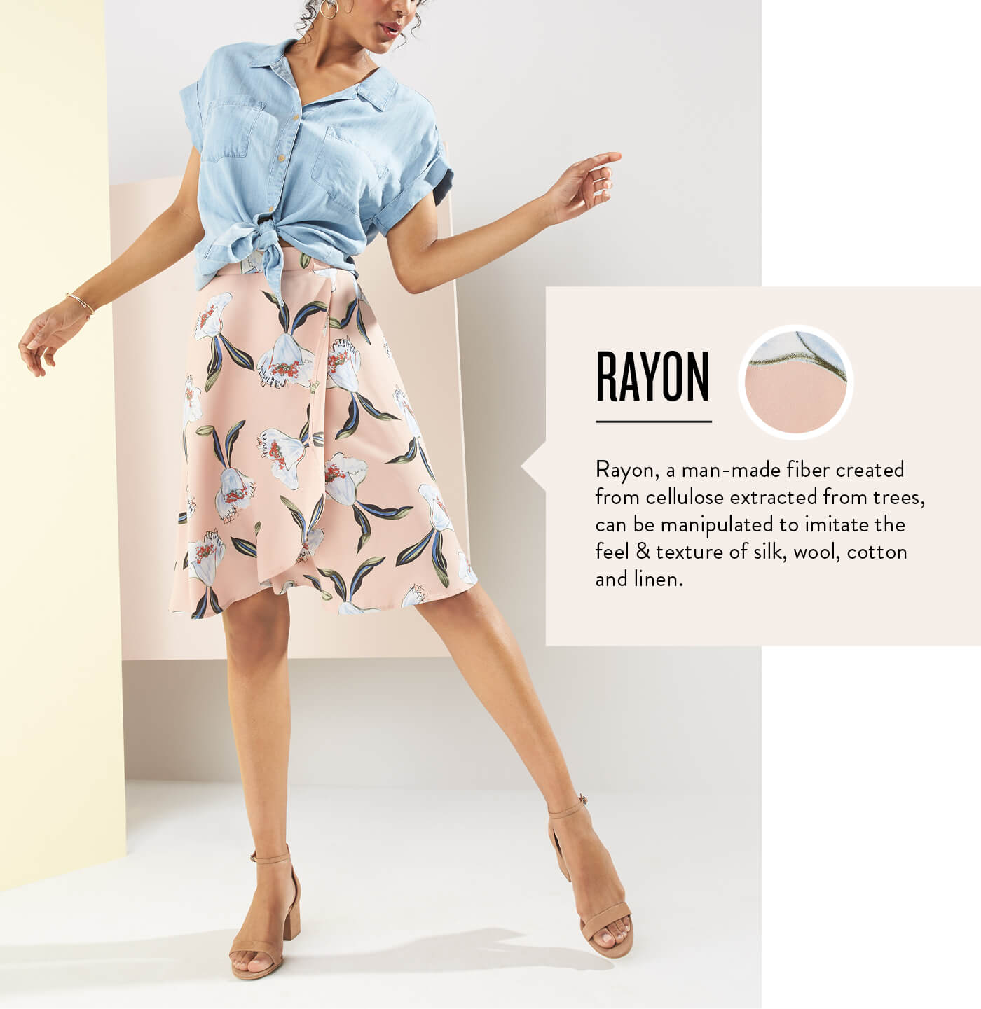 Rayon cotton dress summer