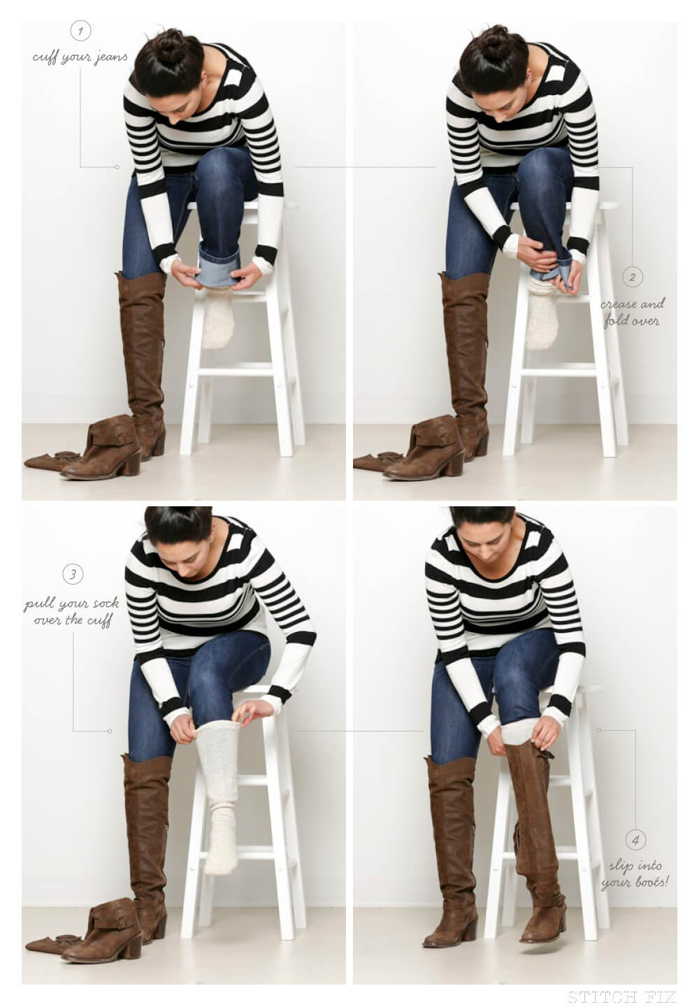 Can I tuck flare or bootcut jeans into boots? | Stitch Fix Style