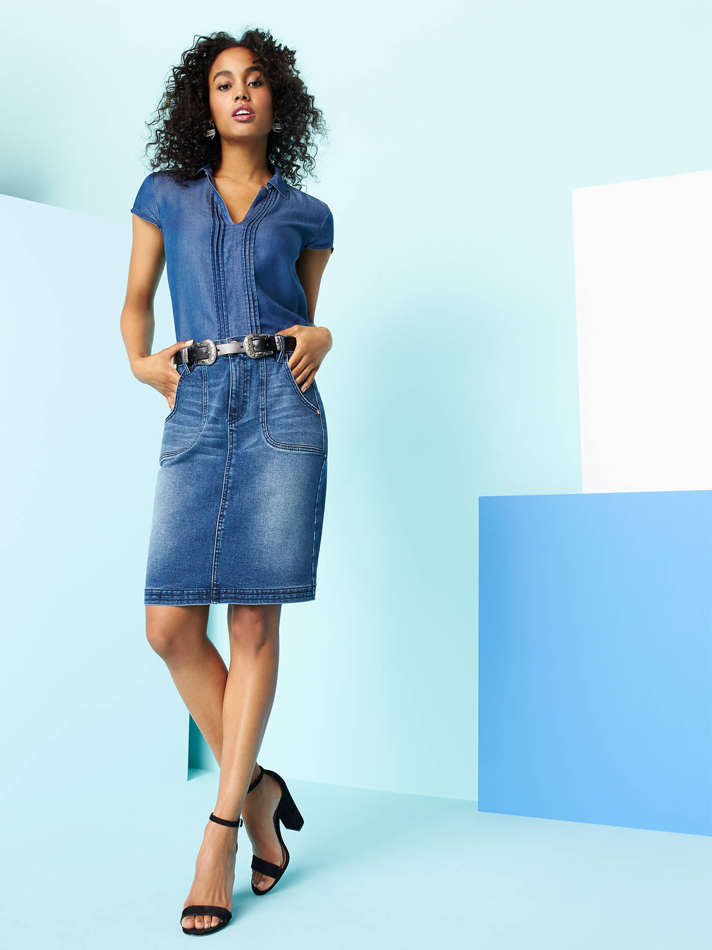 What's the best top to wear with a jean skirt? | Stitch Fix Style