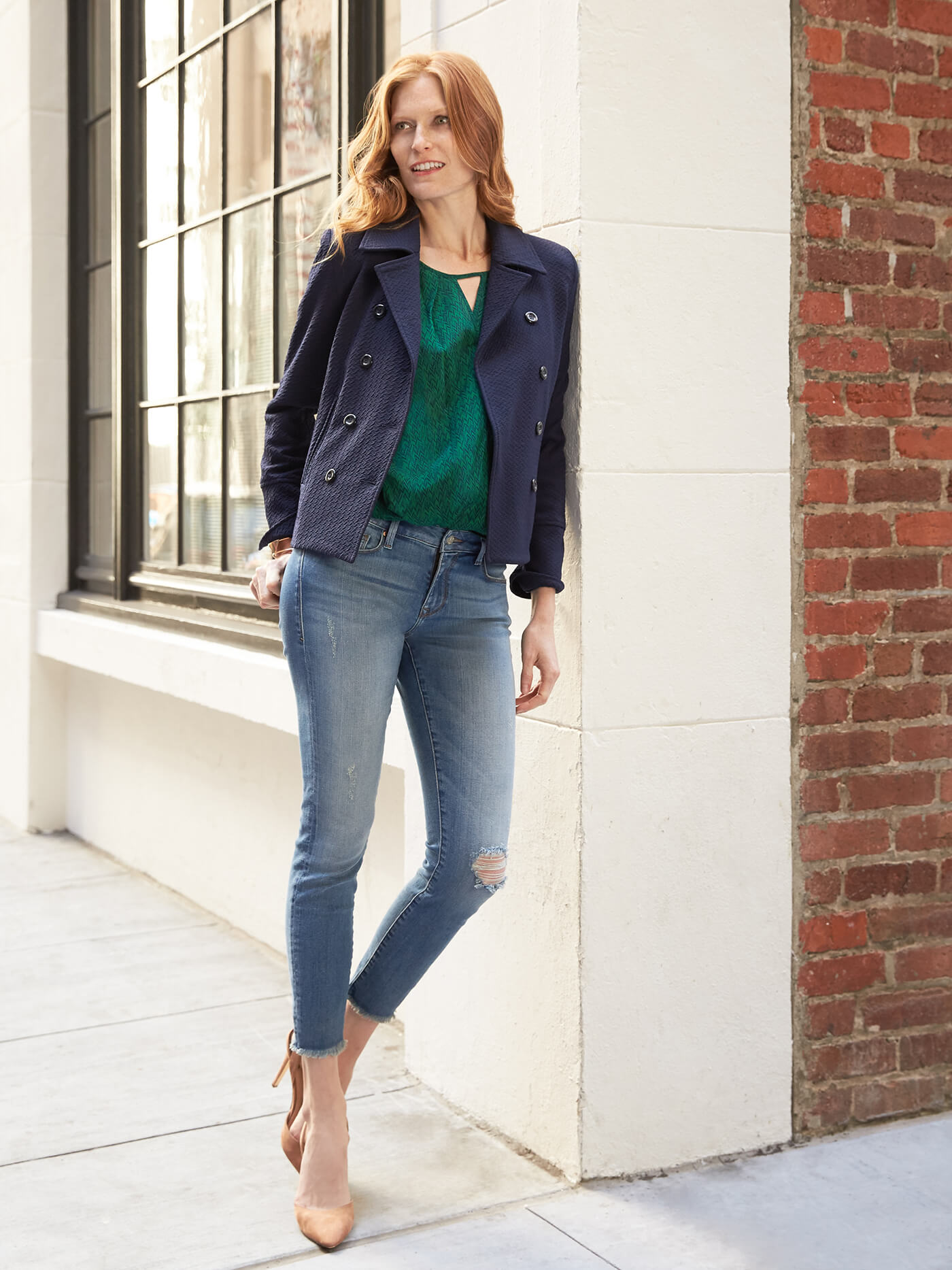 Watch 5 ways to style your skinny jeans stitch fix style for Best shirts to wear untucked