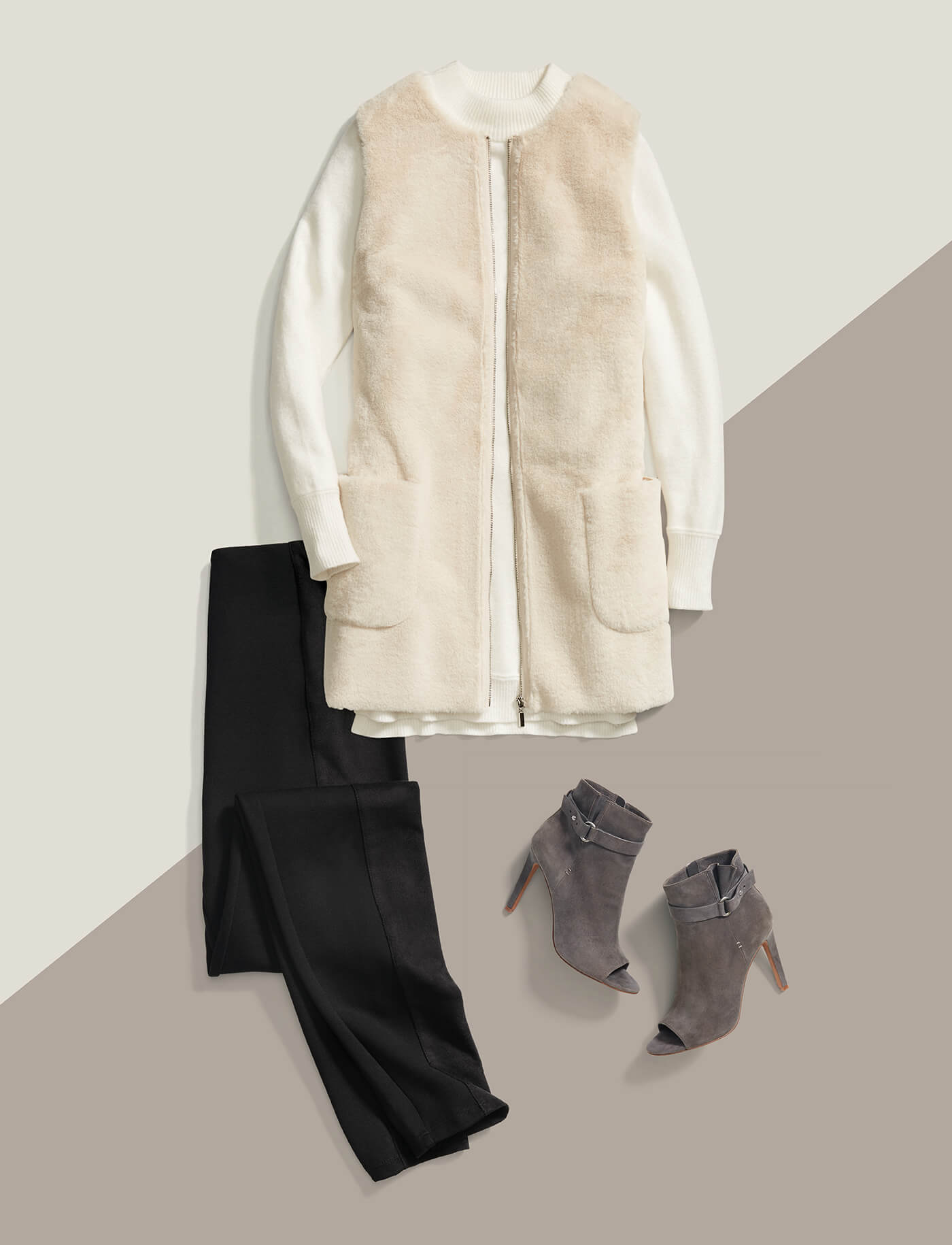 Layering a Vest in Fall
