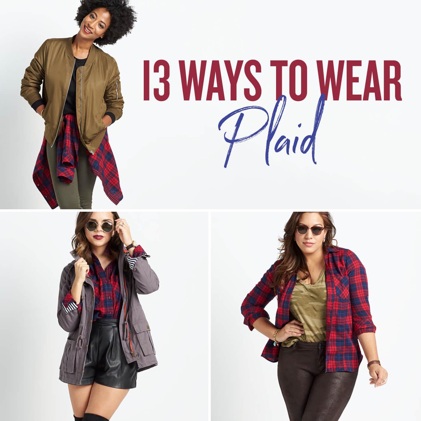 13 Ways To Wear Plaid