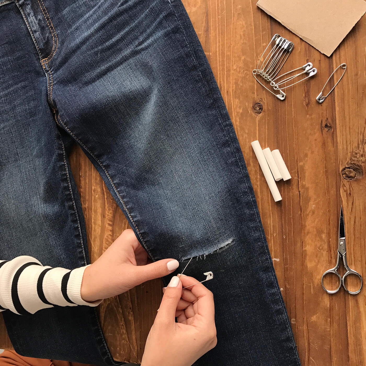 How to Distress Denim