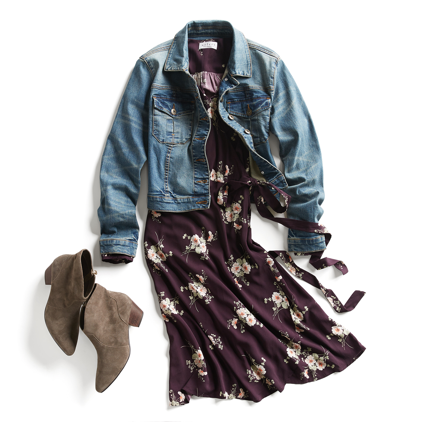 oversized denim jacket with dress