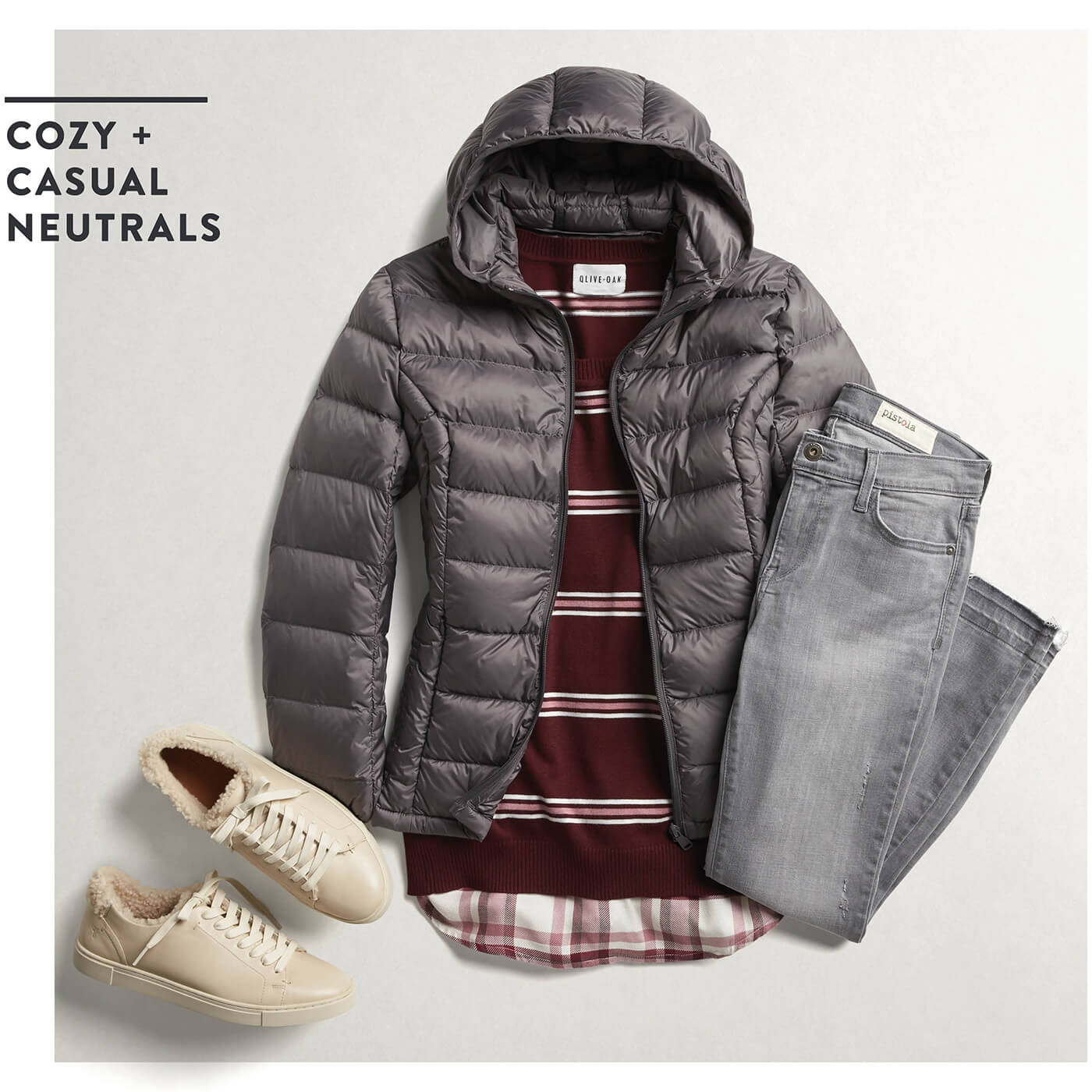 puffer jacket with jeans