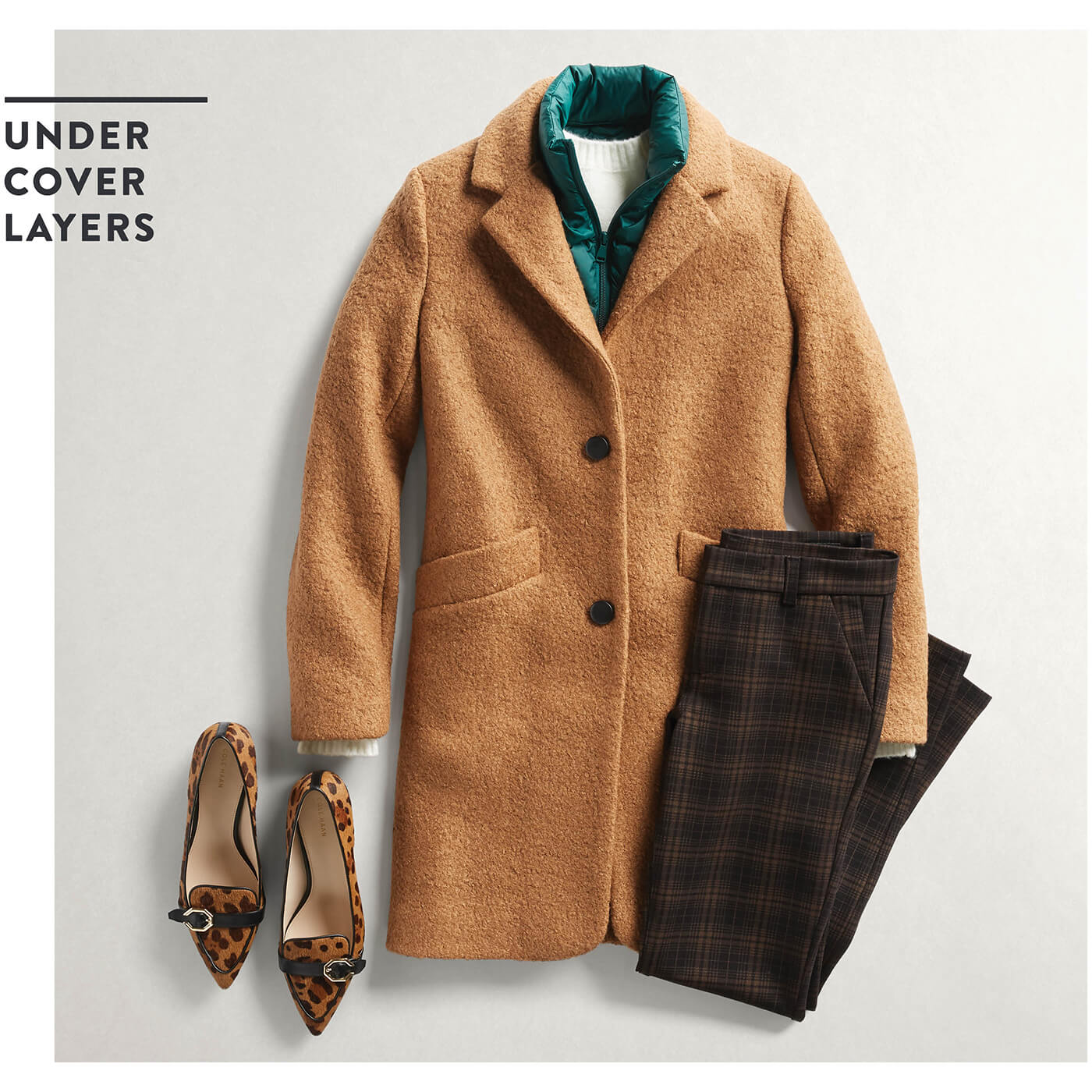 puffer jacket with coat