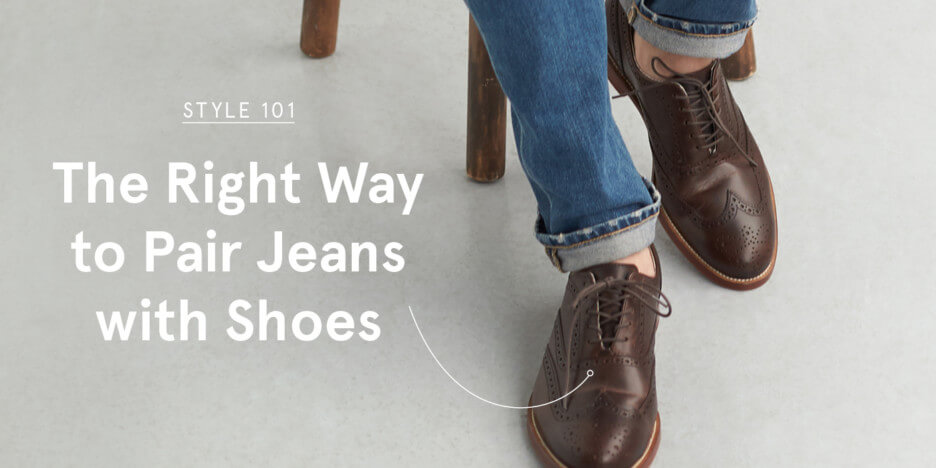a187f8c454cb06 So why does matching jeans with shoes feel trickier than the Sunday  crossword  We promise it s really not. Matching jeans with shoes doesn t  have to be a ...