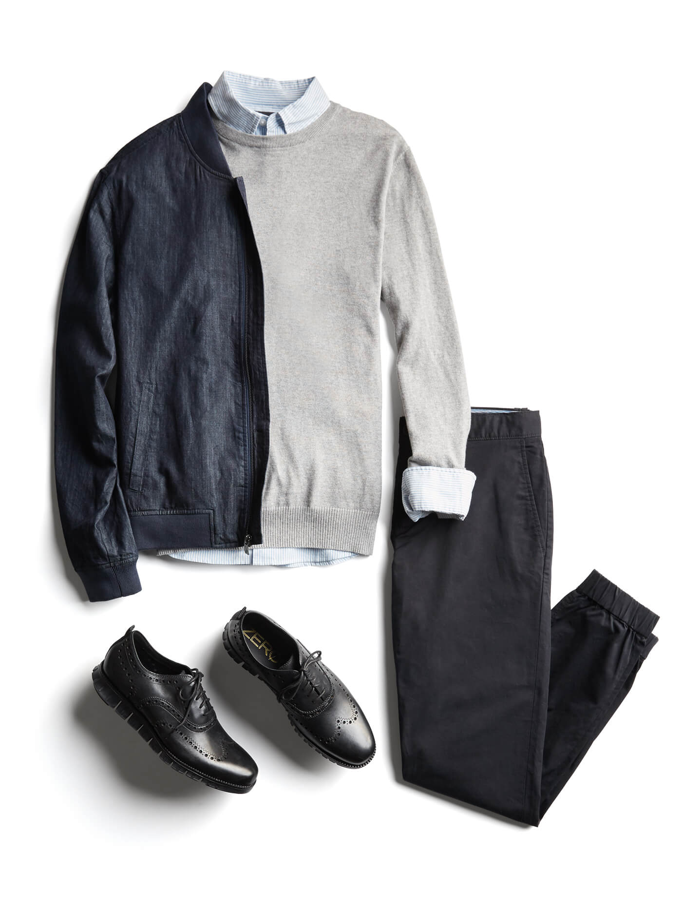 How to Wear Navy and Black Together