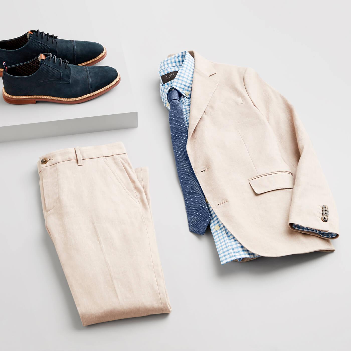 mens khaki suit for work