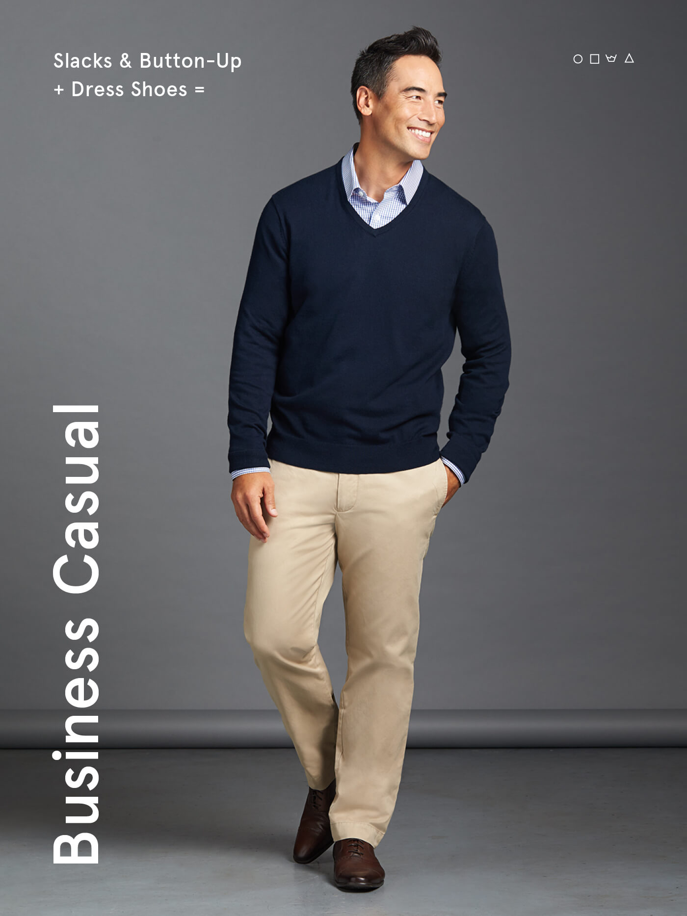 what is business casual for men slack and a button up with dress shoes - Business Casual Men Business Casual Attire For Men