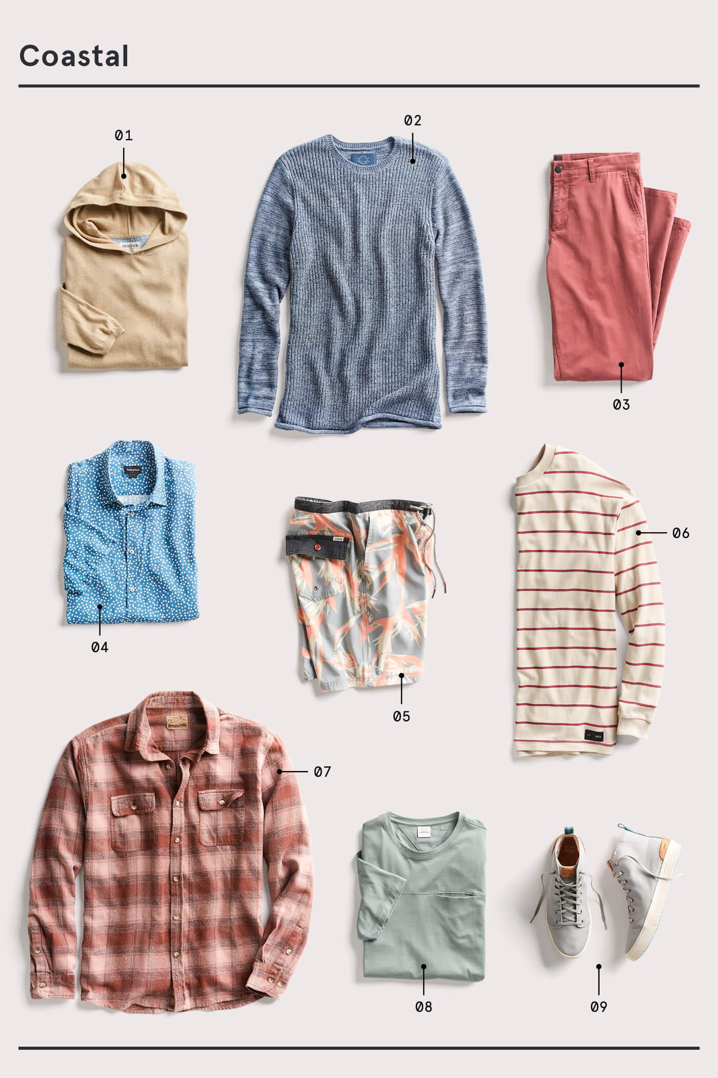 men's coastal style essentials
