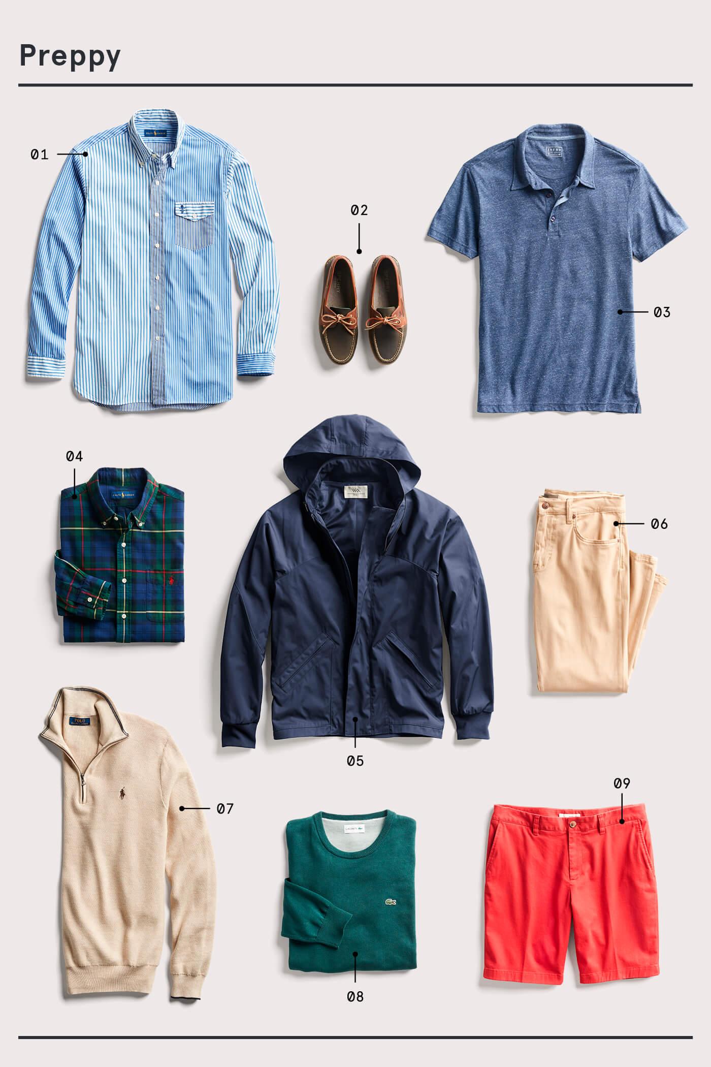 men's preppy style essentials