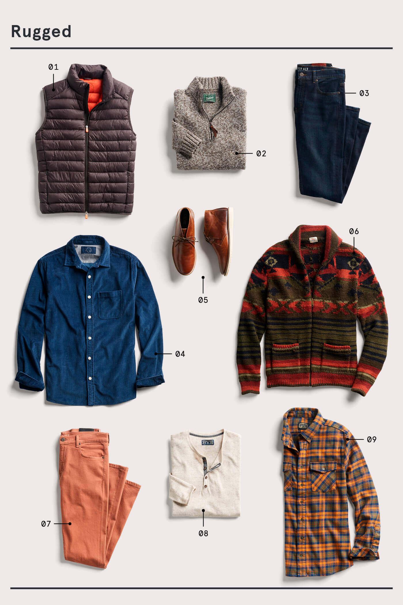men's rugged style essentials