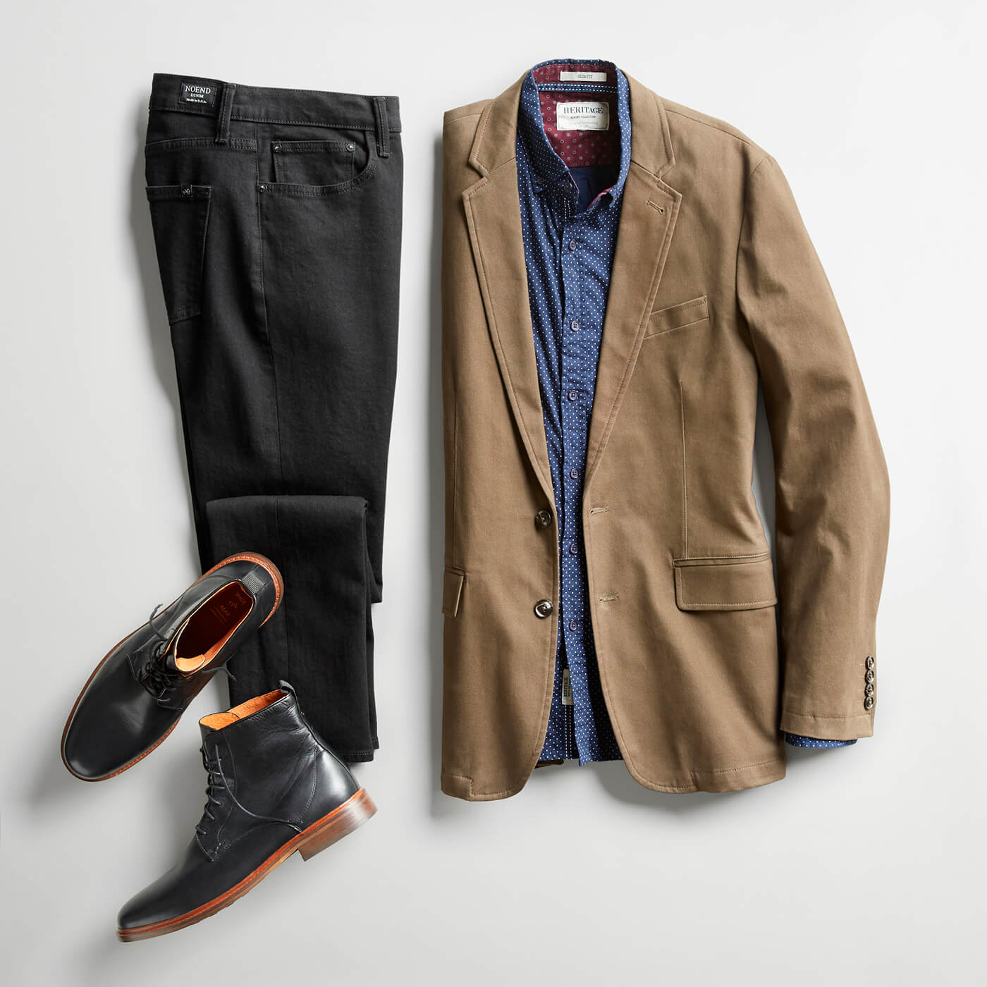 2f6394e09b9 tan blazer and black boots