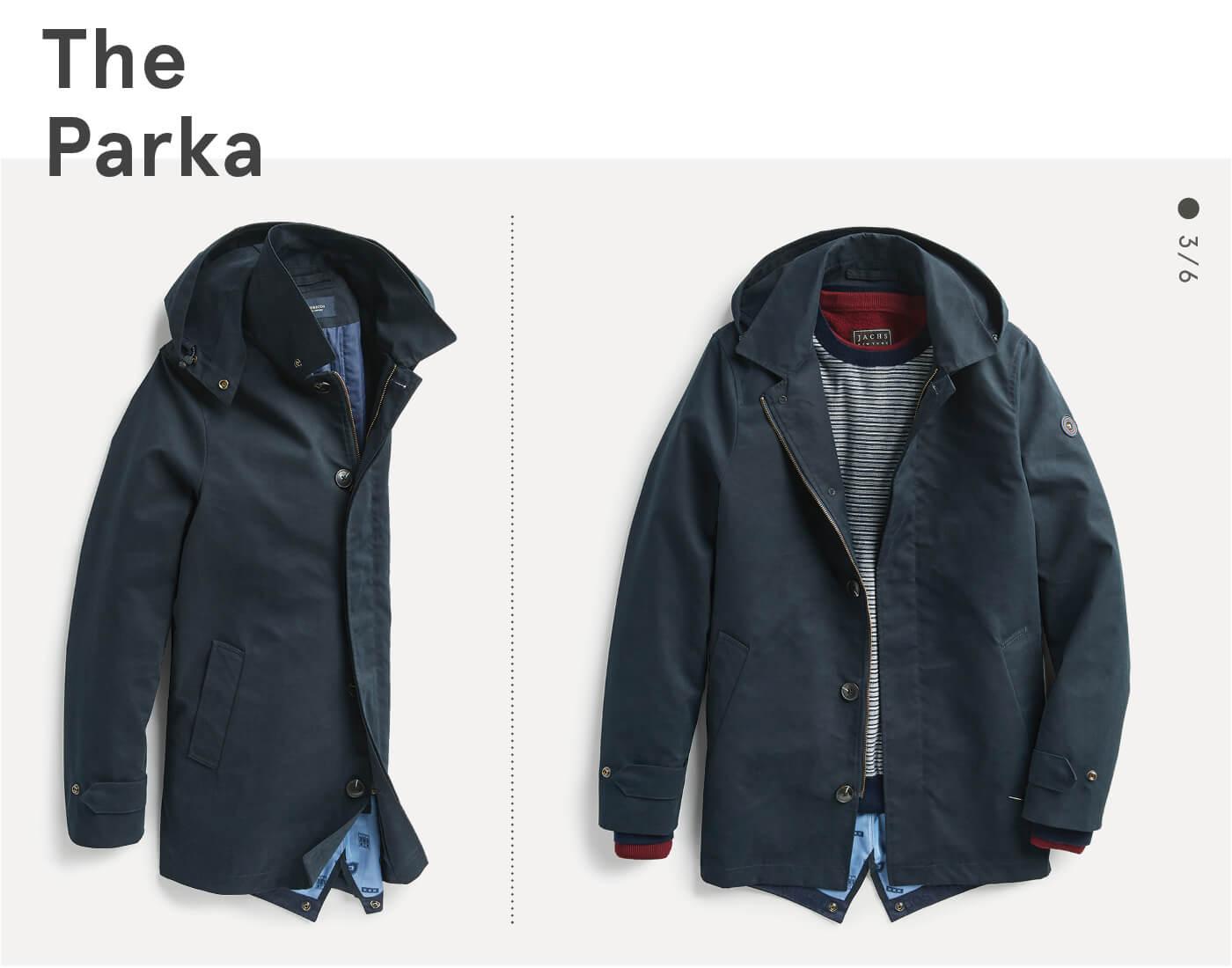men's parka coat