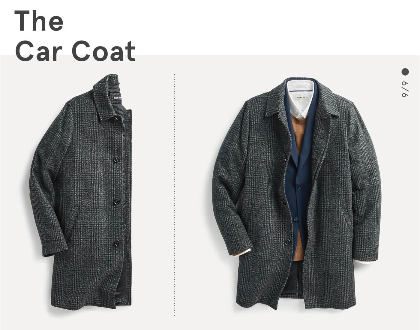 men's car coat