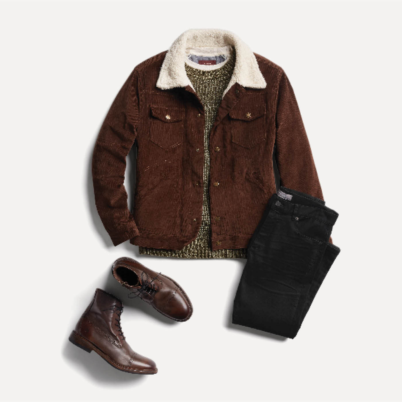 boots with shearling jacket