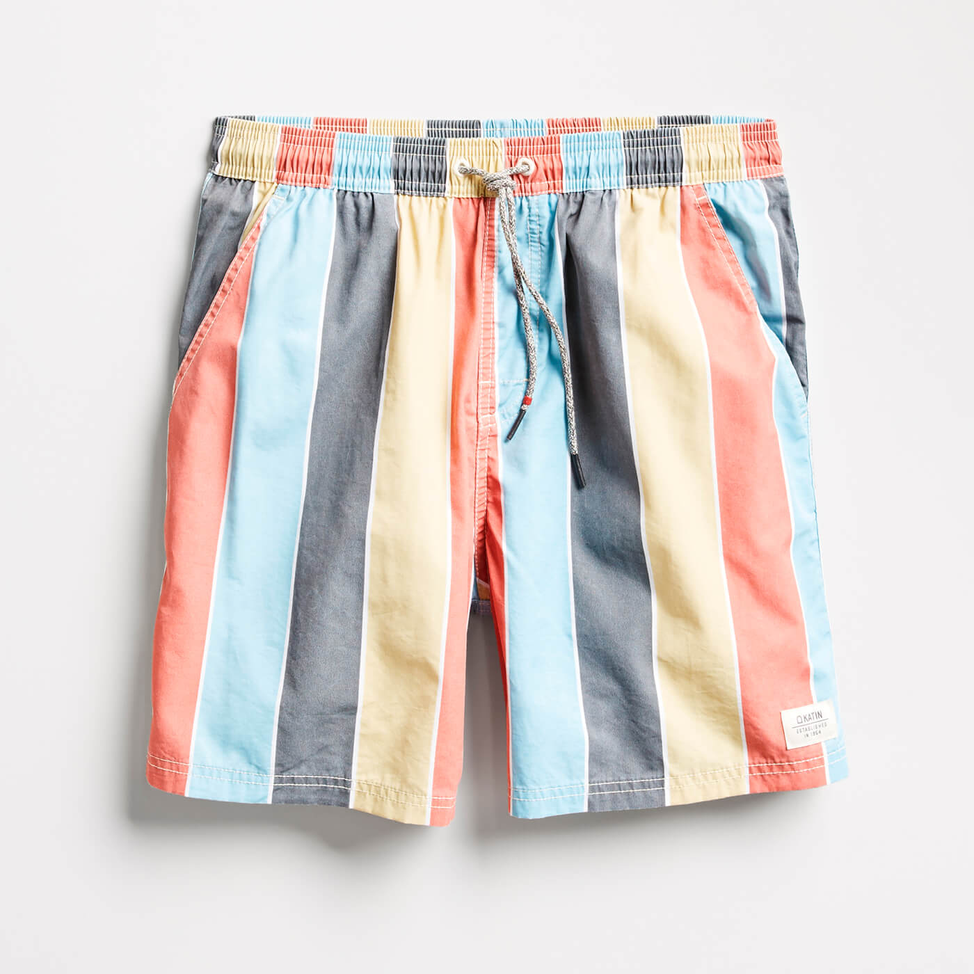 men's striped swim trunks