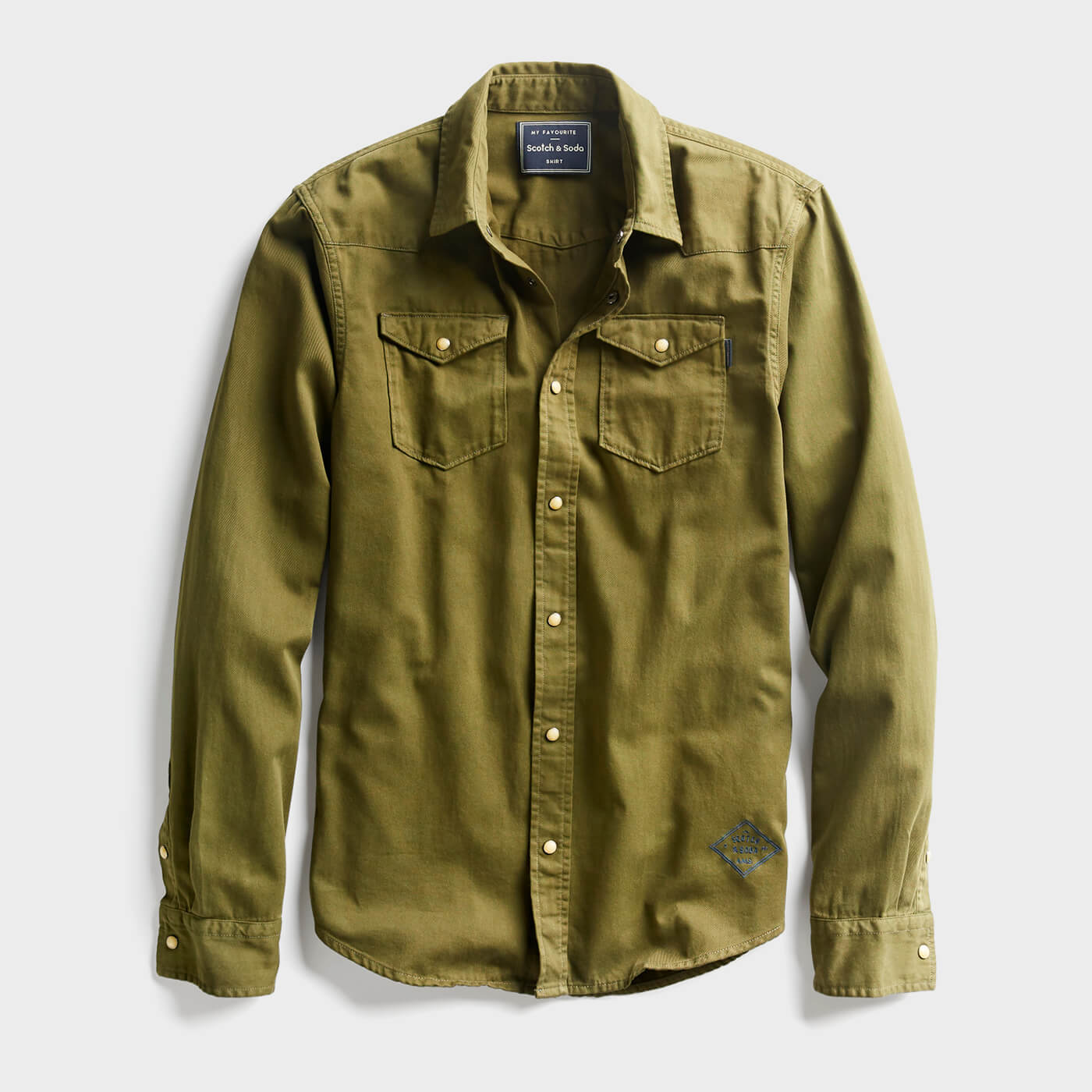 olive green work shirt