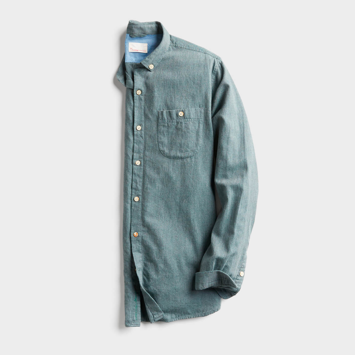 teal flannel shirt