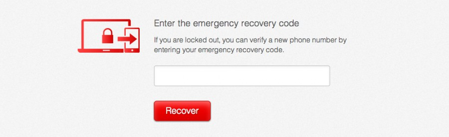 2FA Emergency Recovery Code