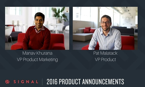 Manav Khurana, VP Product Marketing and Patrick Malatack, VP Products at Twilio