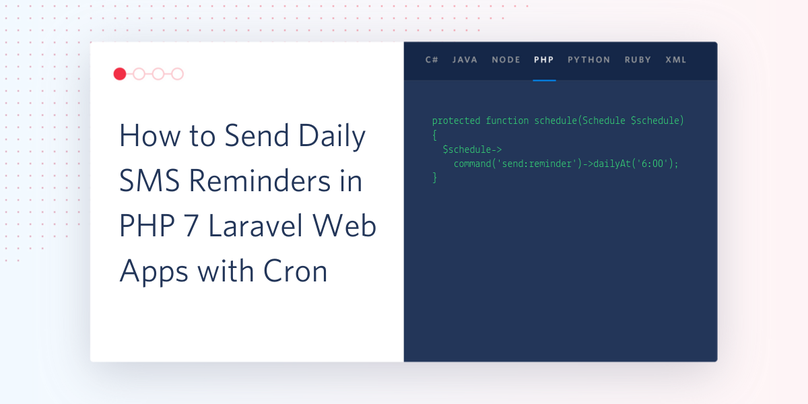 How to Send Daily SMS Reminders in PHP 7 Laravel Web Apps with Cron