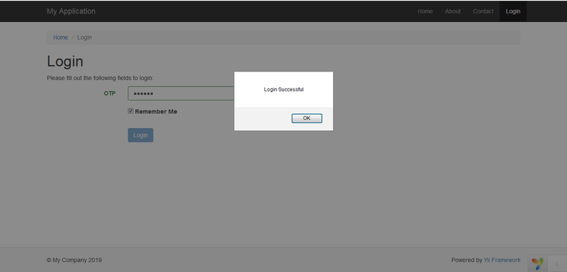 Implement One Time Password Login & Signup with Yii 2 PHP