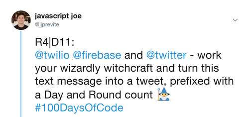 Tracking #100DaysOfCode Tweets using JavaScript, Node js, Firebase