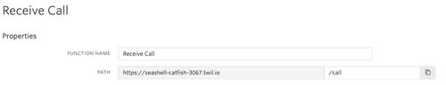 screenshot create a new twilio function