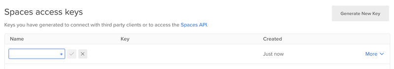 DigitalOcean Spaces API Key