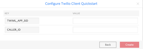 Twilio Client QS Configuration