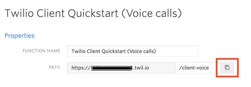 Twilio Client QS Copy Voice URL