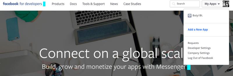Create a new Facebook app
