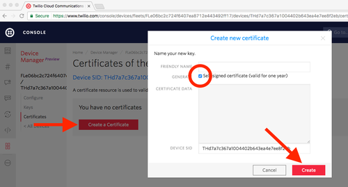 Create a Device Certificate