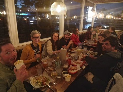 Various speakers from LonghornPHP out to dinner